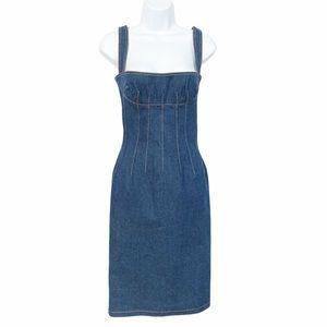 Dolce & Gabbana Denim Corset Dress SZ 4 IT40